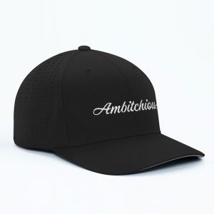 Black on White Lettering Cap