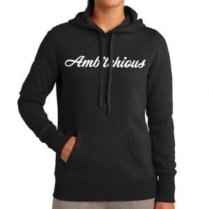 Cold Weather Hoodie w/ White Writing