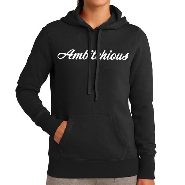 Cold Weather Hoodie w/ White Writing 1